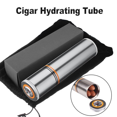 Aluminum Travel Cigar Humidor Humidifier Mini Hydrating Storage Tube Portable Holder Jar with Hygrometer - image 8 of 8