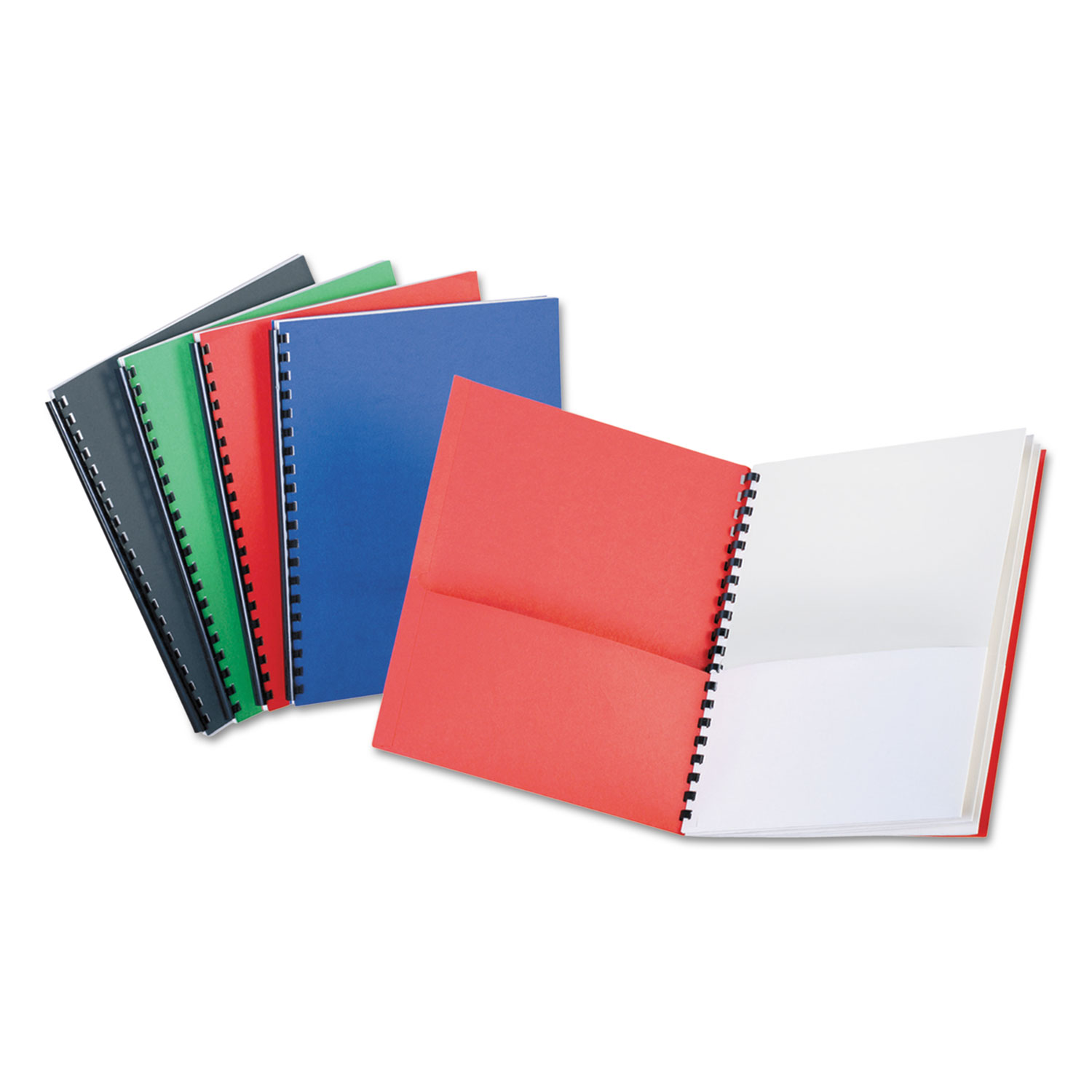Eight-Pocket Organizer, Embossed Leather Grain, Assorted Colors w/White Pockets