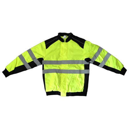Visibility Class 3 Waterproof Jacket (Boston Industrial High Visibility Class III Lime Spring Jacket, Medium)