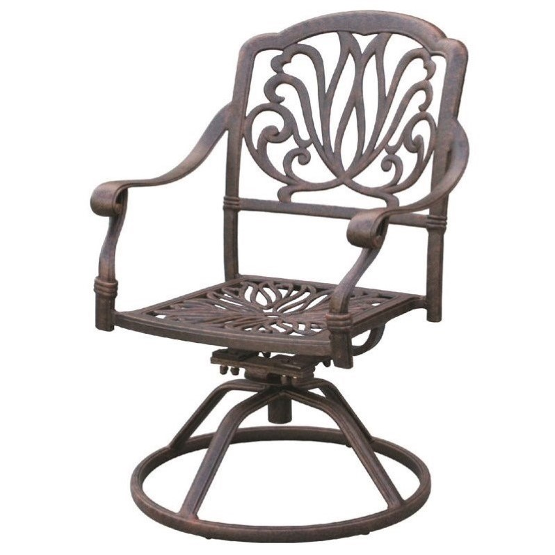 darlee elisabeth swivel patio chair in antique bronze set of 2 - Swivel Patio Chairs