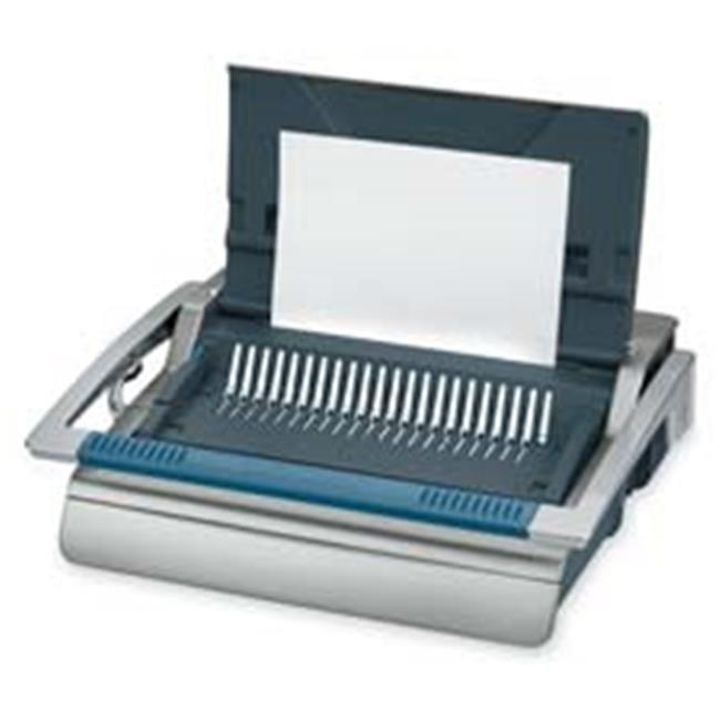 Manual Comb Binding Machine- 20-.88in.x17-.75in.x6-.50in.- Gray by SuiteX