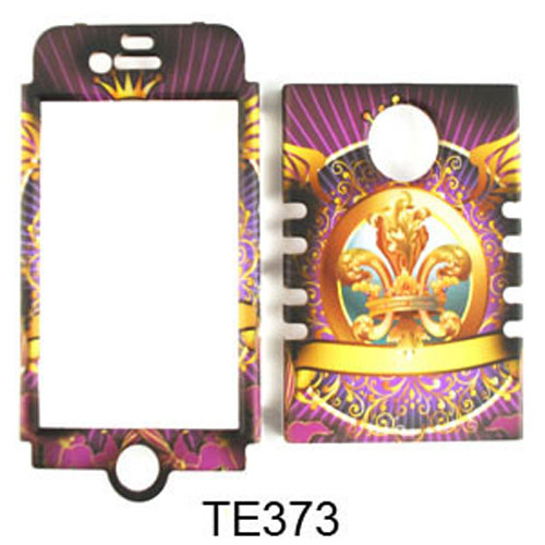 Rocker Series Snap-On Protector Case for Apple iPhone 4 / 4S (Royal Badge with Wings)