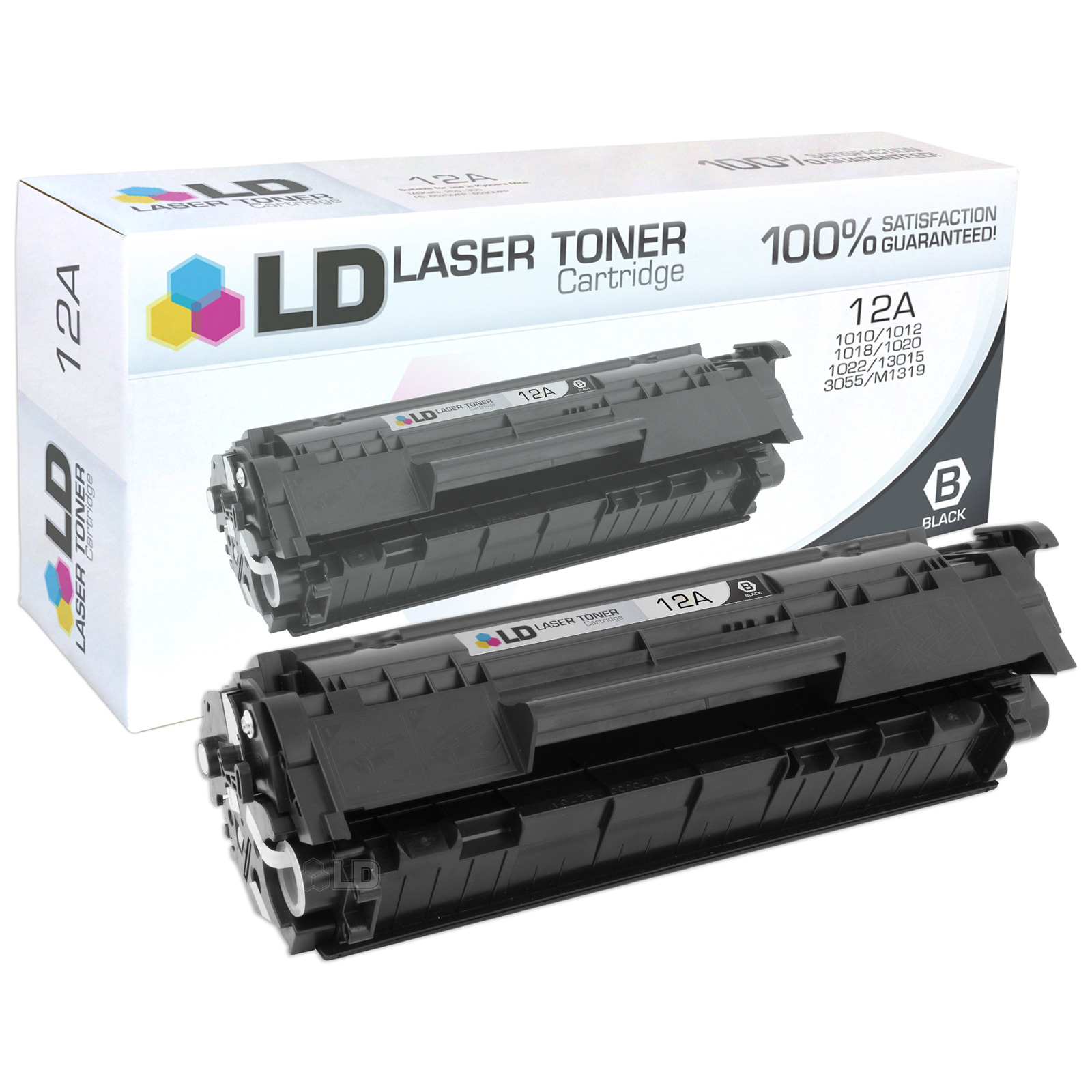 LD Compatible Replacement for HP Q2612A / 12A Black Laser Toner Cartridge for HP LaserJet Printer Series