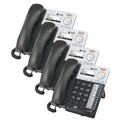 AT&T SB67025 Synapse Corded Extra Deskset 4 Pack On-Hook Dialing