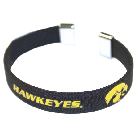 Iowa Hawkeyes Ribbon Band Bracelet