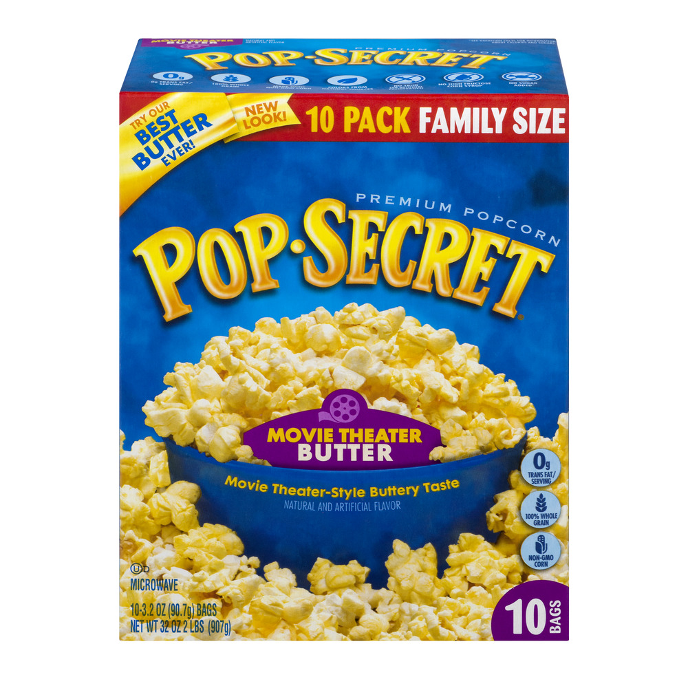 S - L Snacks National, LLC Diamond Foods, Inc. Pop Secret Movie Theatre Butter Popcorn, 10 Ct