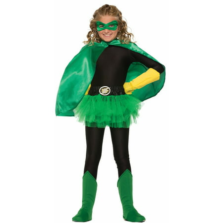 Green Child Cape Halloween Costume - Green Cape Costume