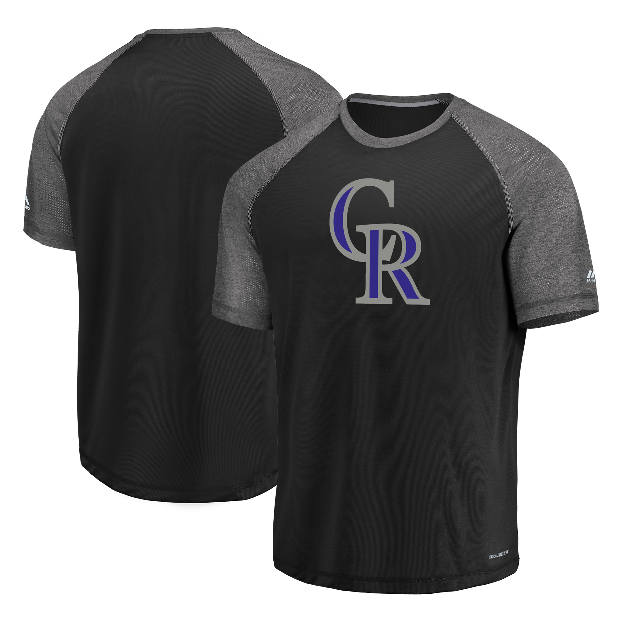 Colorado Rockies Majestic Got the Word Cool Base T-Shirt Black by MAJESTIC LSG