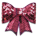 Expo Int'l Bow Dimensional Iron-on Sequin Applique ()