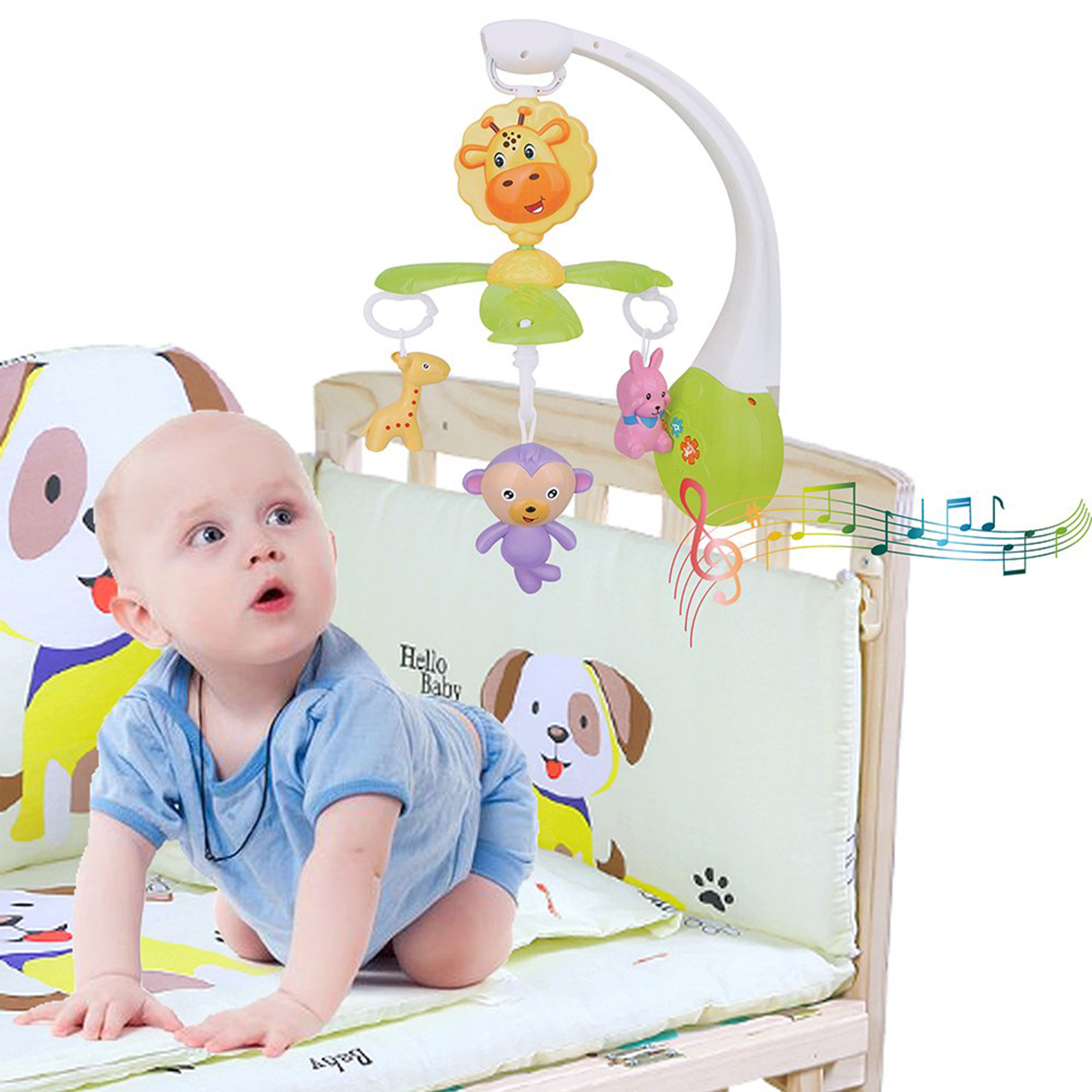 KARMAS PRODUCT Infant Baby Mobile Crib Bed Bell DIY Music Box Kid Toys Gift by KARMAS PRODUCT