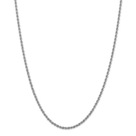 14k White Gold Handmade Regular Rope Chain 20inch Valentine's Day Gifts Handmade Regular Rope Chain