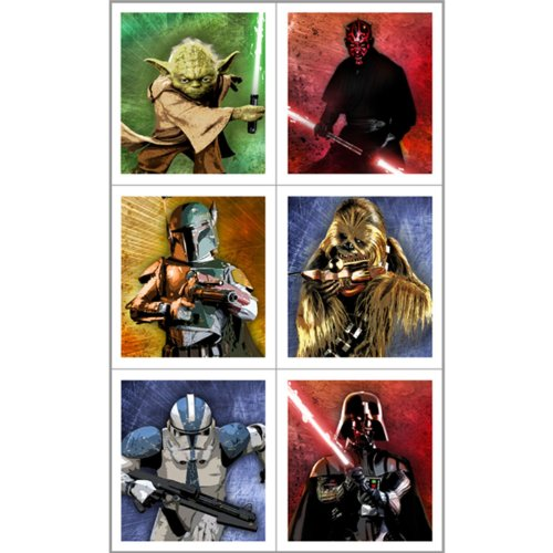 Star Wars Stickers (4 sheets) - image 1 of 1