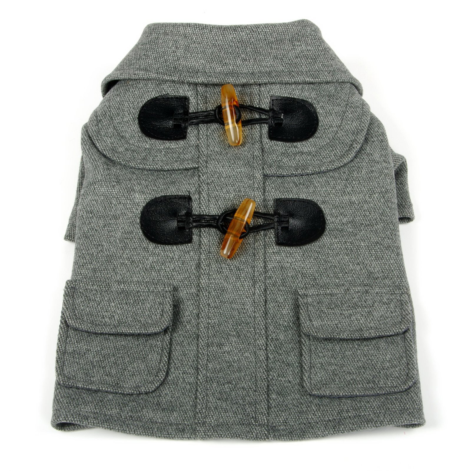Pet Life Military Static Rivited  Fashion Collared Wool Pet Coat