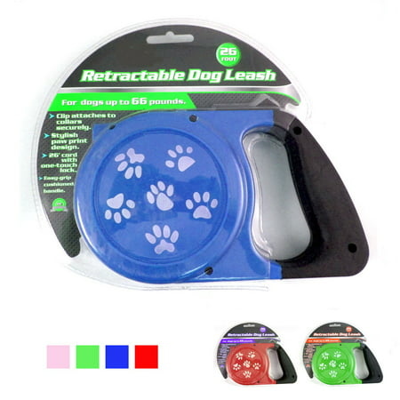 26Ft Auto Retractable Dog Leash Stop Lock Small Medium Big Pet Up To 100lb Train Hot Pink Dog Leash