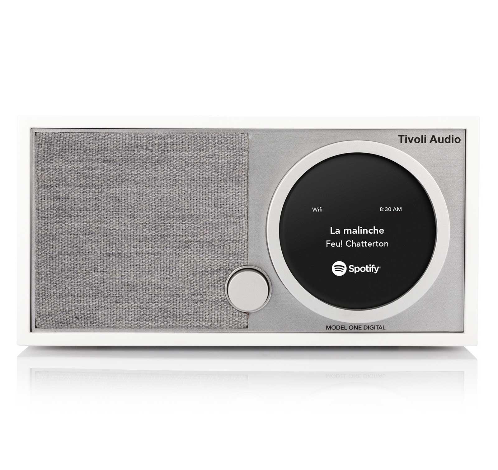 Tivoli Audio Model One Digital White Gray FM   Wi-Fi   Bluetooth   Table radio by Tivoli