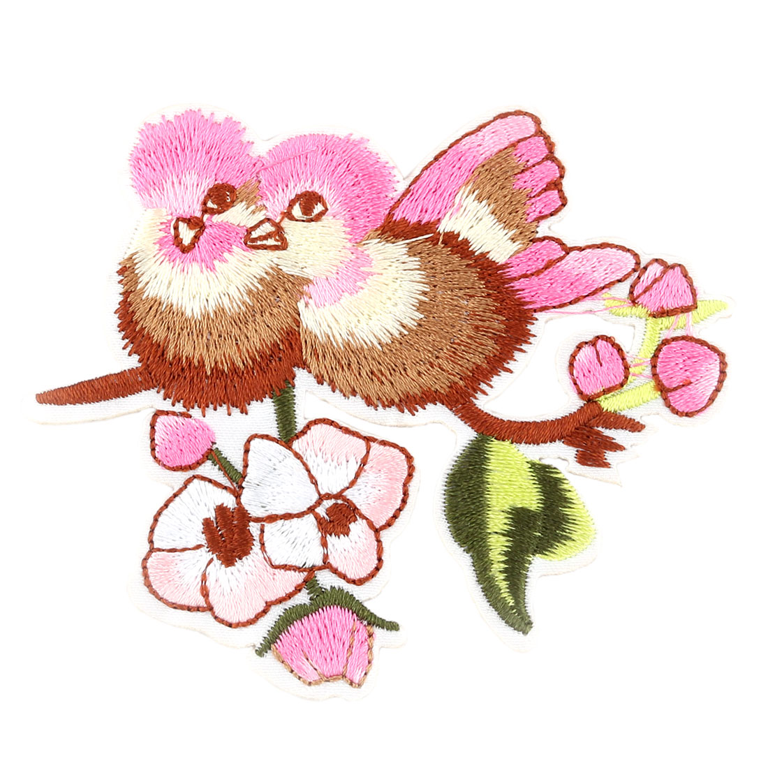 Unique Bargains Home Polyester Bird Pattern Embroidery Handicraft Clothes Trouser Lace Applique