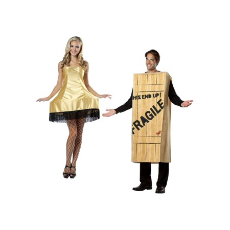 Christmas Story Wooden Crate Men and Leg Lamp Women Couples Costumes - Cop Couple Costumes