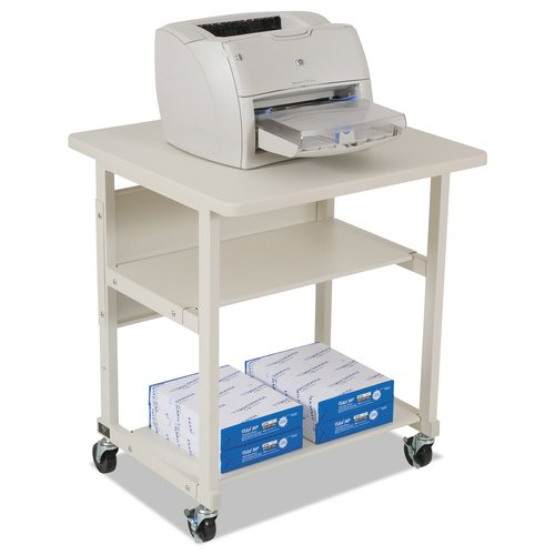 BALT Heavy-Duty Mobile Laser Printer Stand, Three-Shelf, 27w x 25d x 27-1/2h, Grey