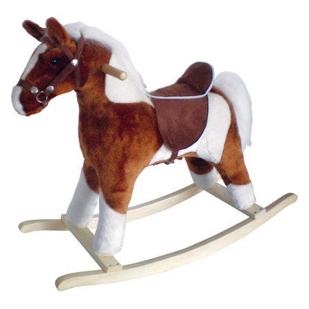 Horse Fox - plush rocking horse with realistic sounds for toddlers
