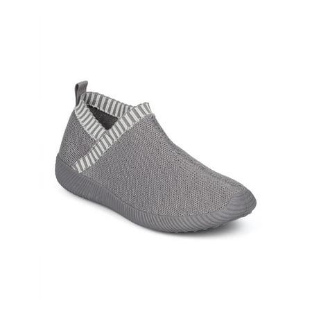 New Women Qupid Nacara-06 Knit Fabric Lace Free Jogger Sneaker