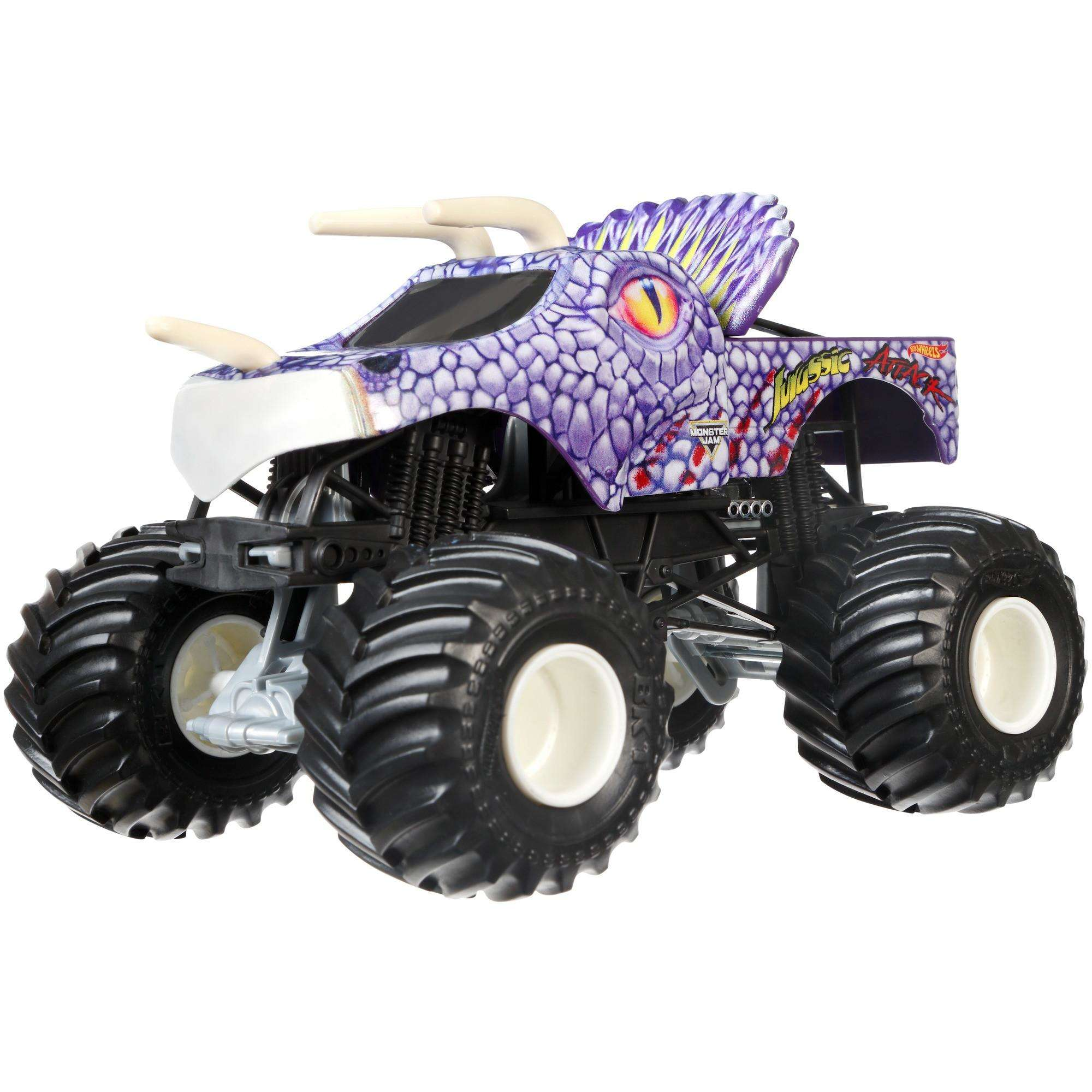 Hot Wheels Monster Jam Jurassic Attack Purple Vehicle