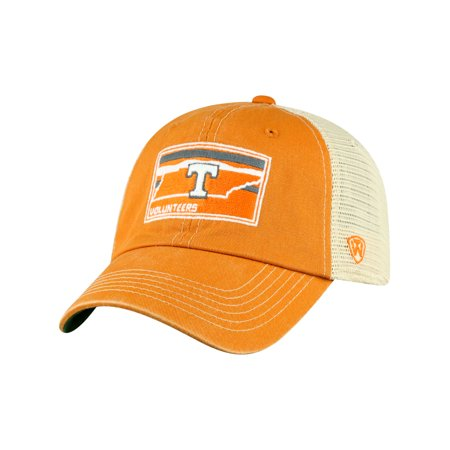 Tennessee Volunteers Official NCAA Adjustable Landscape Hat Cap Mesh Curved Bill by Top of the World - Tennessee Top Hat