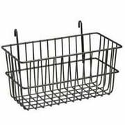 Lavi Industries 809328-BK Grid Wall Small Basket, Black Matte Black
