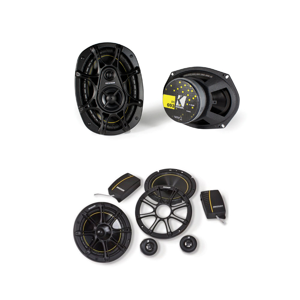 Kicker 11DS652 component speakers & 11DS693 3-way speaker bundle