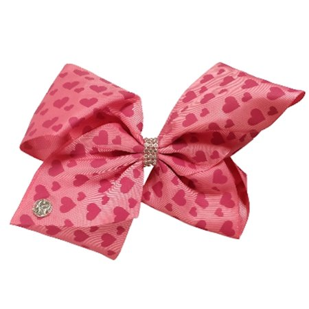 jojo siwa large cheer hair bow (pink hearts)