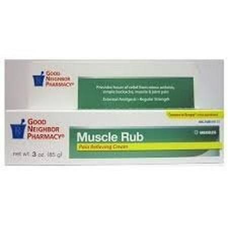 Rub 2 Ounce Cream - Muscle Rub Pain Relieving Cream 3-oz Greaseless Muscle Rub