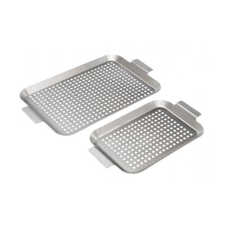 Bull 24118 Medium & Large Stainless Steel Barbecue and Grill Flat Grid Pan - Grill Pan Grid