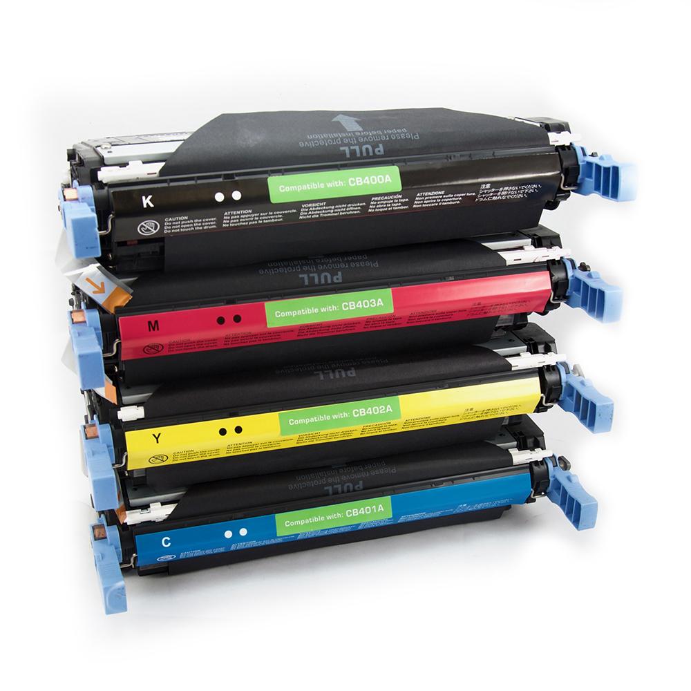 4PK CB400A CB401A CB402A CB403A Toner Set For HP Color LaserJet CP4005 CP4005n