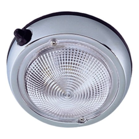 Perko Surface Mount Dome Light - 5 O.D.(4 Lens) - Chrome -