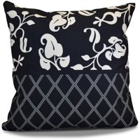 """Simply Daisy 16"""" x 16"""" Scroll Dot Floral Print Outdoor Pillow"""