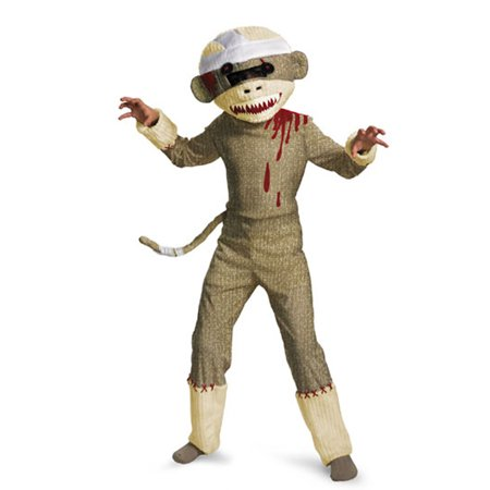 Child Zombie Sock Monkey Costume Disguise 19425, 4 to 6
