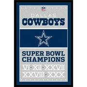Dallas Cowboys Super Bowl Champions 24.25'' x 35.75'' Framed Poster