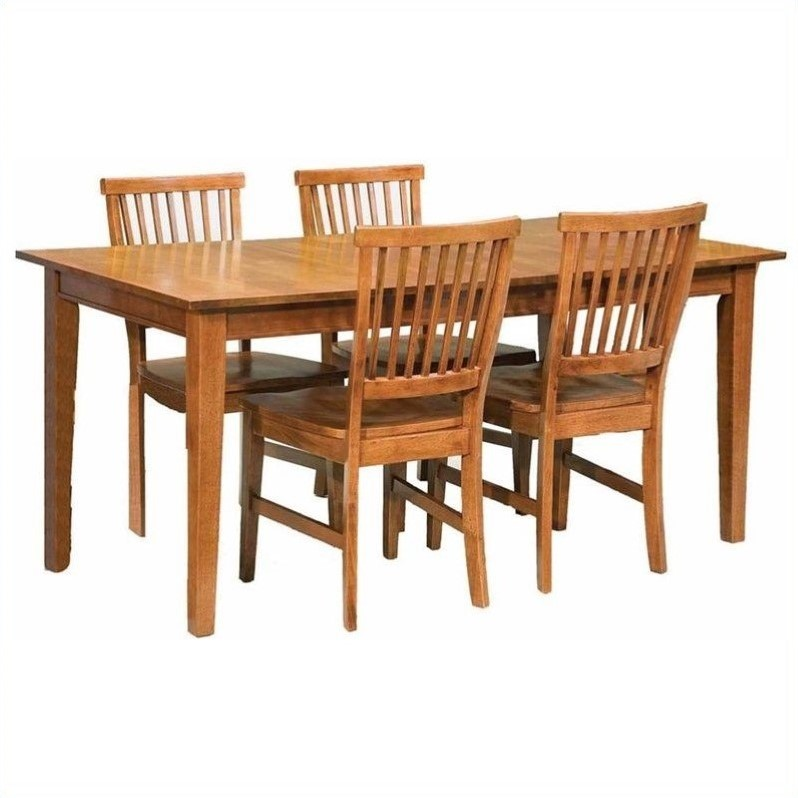 Home Styles Arts and Crafts 5 Piece Dining Room Set in Cottage Oak by Home Styles