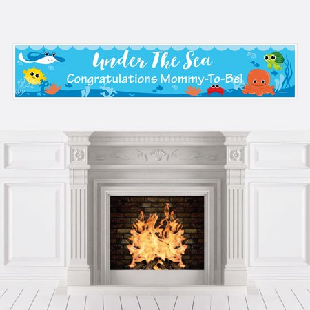 Under The Sea Critters - Baby Shower Decorations Party Banner