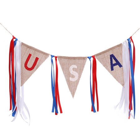 KABOER 4th of July Banner USA Letter America Independence Day Sign](Banner 4th Of July)
