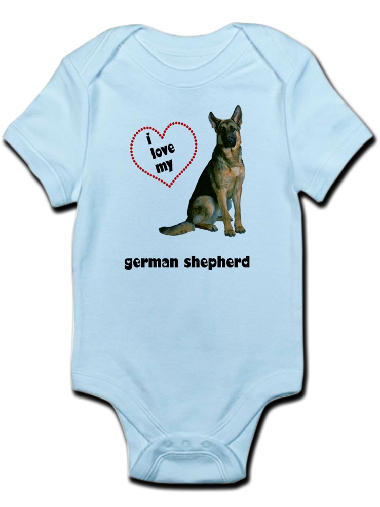 Hot German Shepherd Dog Organic One-Piece Kid Pajamas Clothes Baby Boys Romper Jumpsuit
