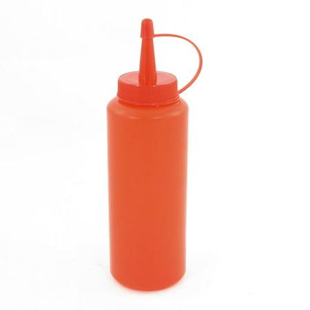 Bouteille à presser vinaigre huile en plastique rouge capacité 290ml - image 1 de 1