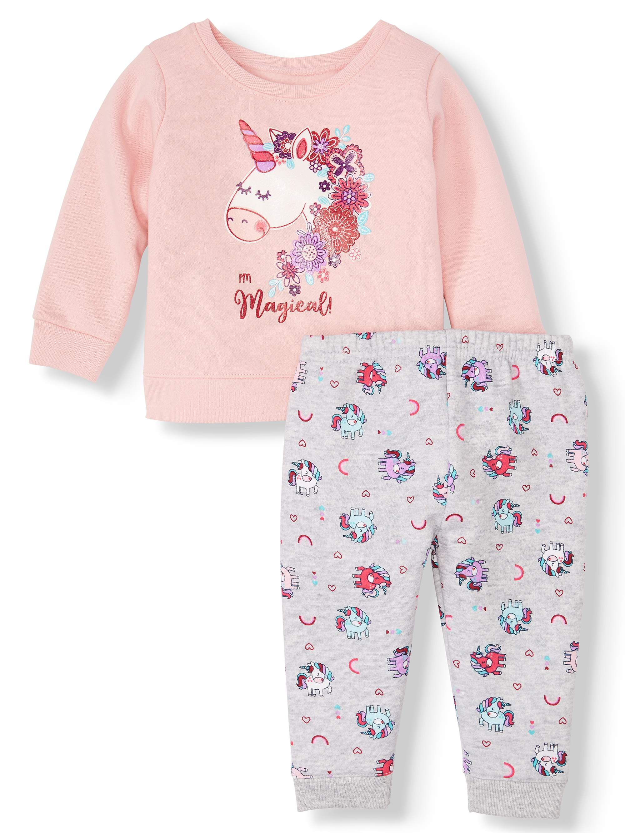 Rocawear Baby Girls Multi Print 2 Piece Short Set-24 Months