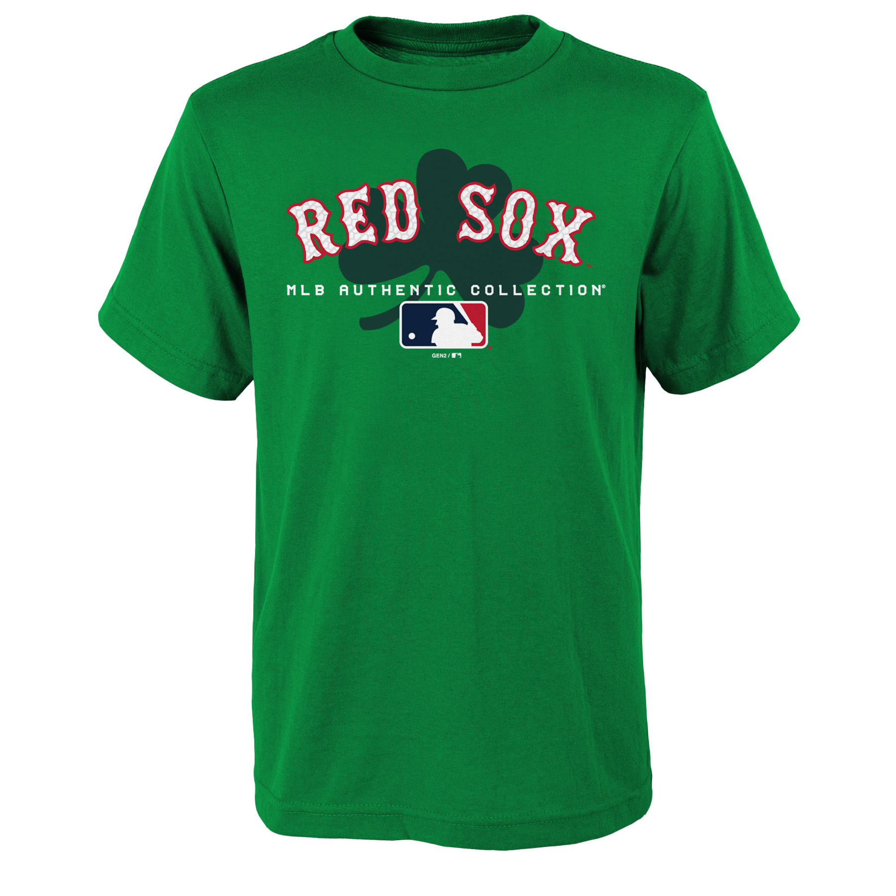 Boston Red Sox Youth 2018 St. Patrick's Day Authentic Celtic T-Shirt - Kelly Green