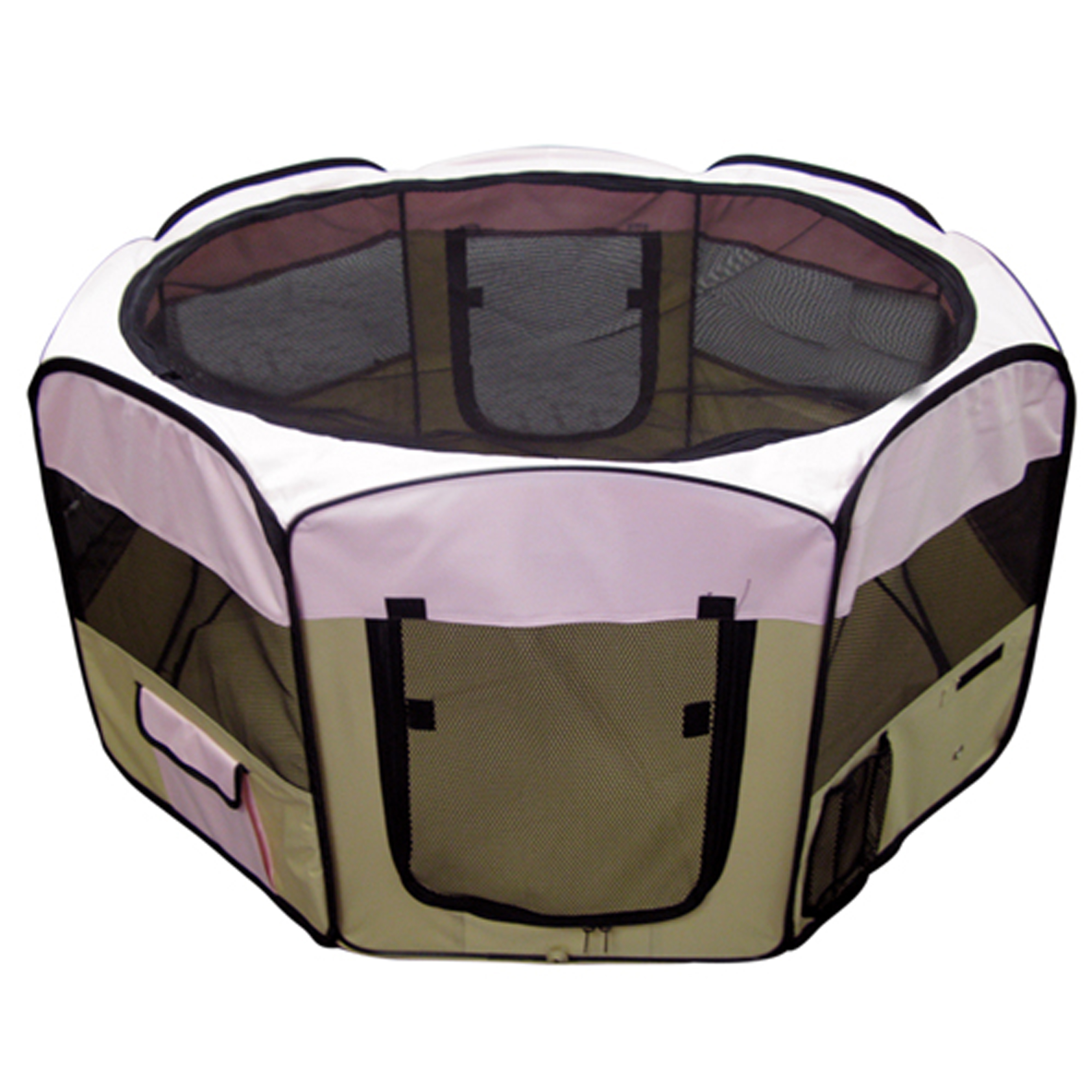 "Pink Pet Playpen 45"" Exercise Puppy Dog Pen Kennel Easy Folding Design"
