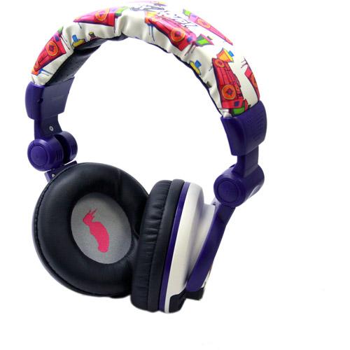 Sakar Soundtilt Headphones, White and Purple