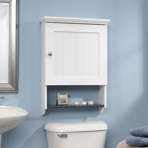 Sauder Caraway Wall Cabinet, Soft White