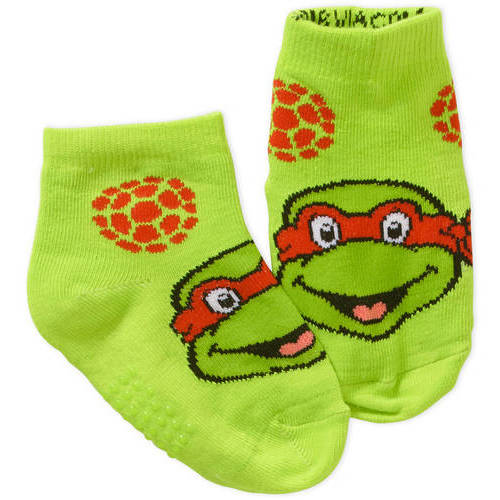 Teenage Mutant Ninja Turtles Newborn Baby Boy Quarter Socks, 3-Pack