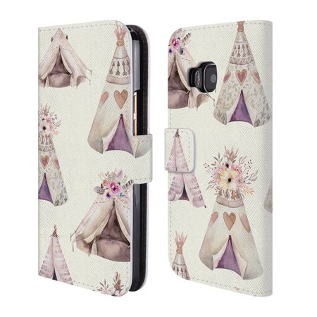 OFFICIAL KRISTINA KVILIS TEEPEE 2 LEATHER BOOK WALLET CASE COVER FOR HTC PHONES 1