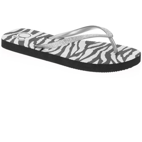 OP Women's Zebra Print Flip Flop