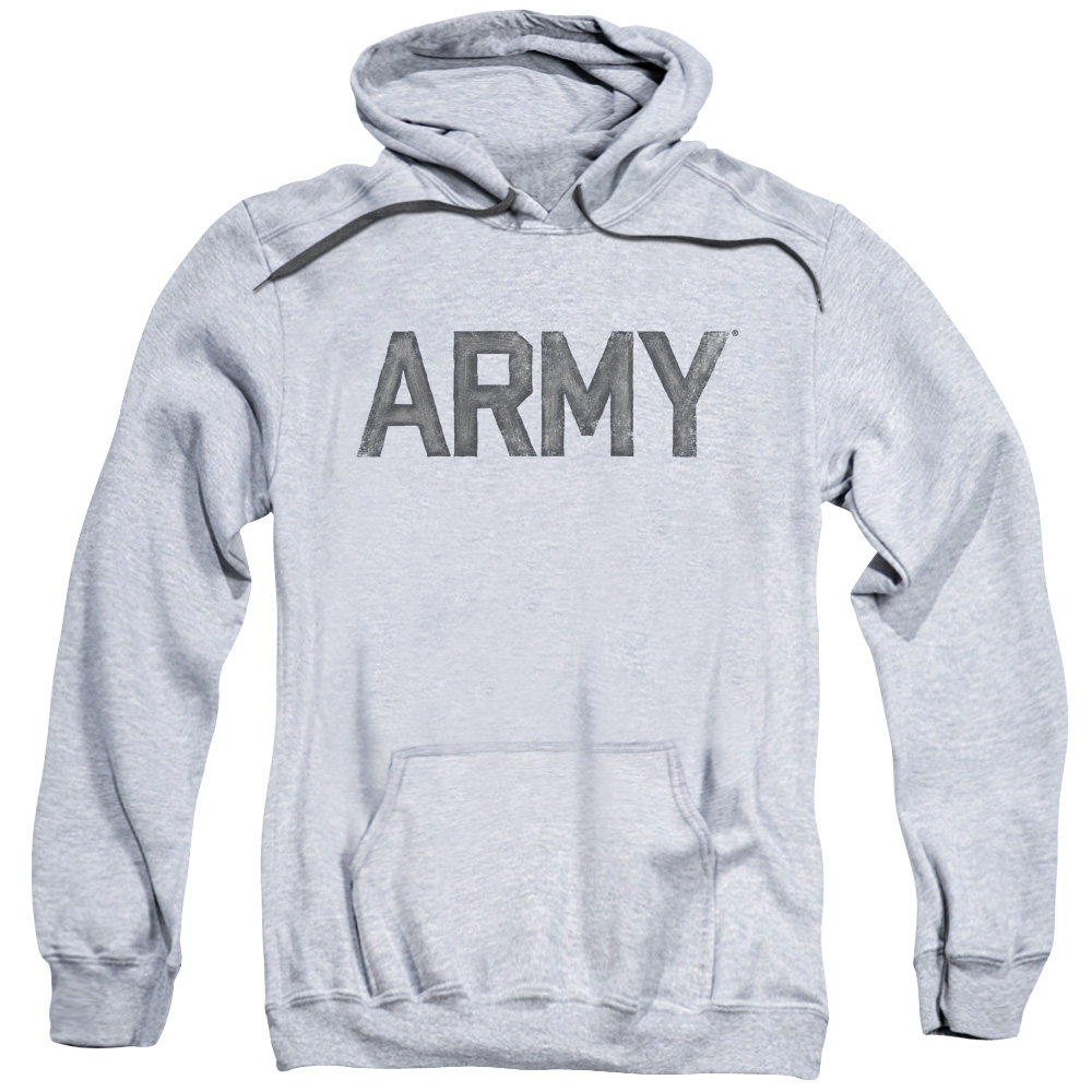 ARMY/STAR-ADULT PULL-OVER HOODIE-ATHLETIC HEATHER-3X